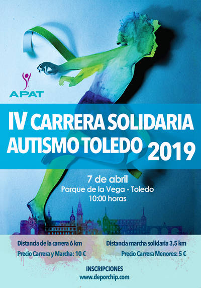 IV Carrera Solidaria Autismo Toledo 2019 - Cartel