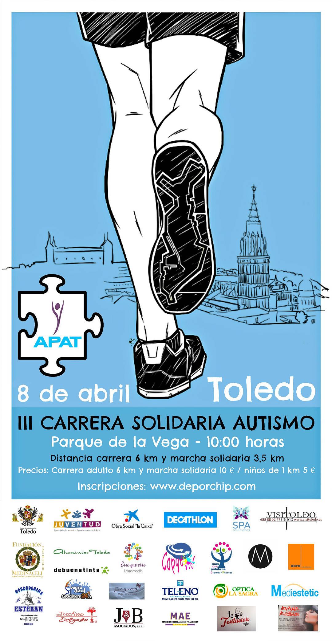 Cartel Carrera Solidaria Autismo Toledo 2018