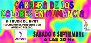 Cartel Carrera de los Colores de Numancia 2018