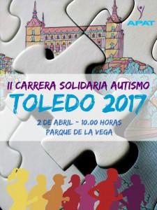 Cartel II carrera y marcha solidaria autismo Toledo