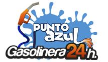 Logotipo Gasolinera Punto Azul